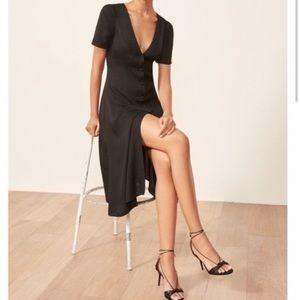 Reformation Locklin Black Dress sz 8